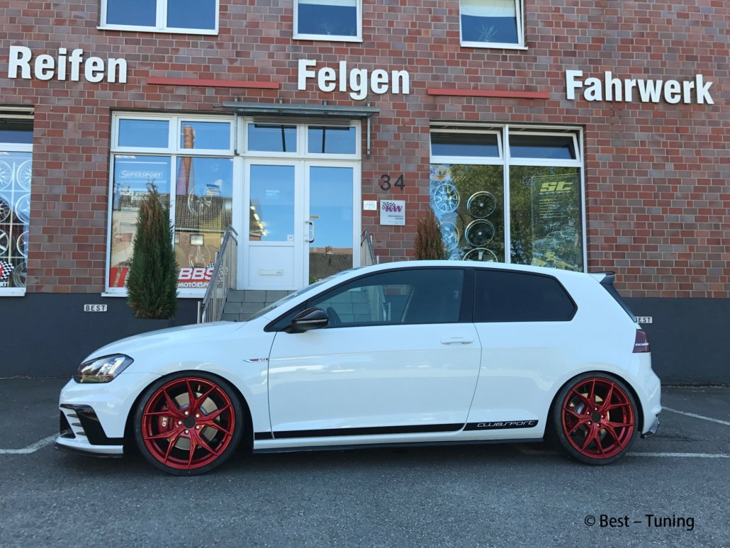 vw golf 7 keskin kt19 candyrot 19 zoll. Black Bedroom Furniture Sets. Home Design Ideas