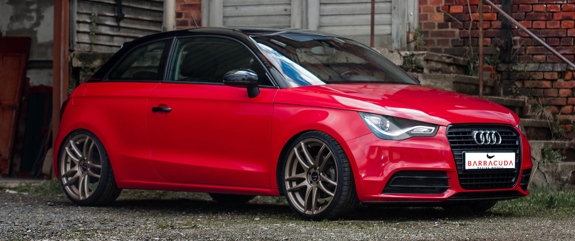 Audi – A1 – Rot – BARRACUDA – Shoxx – Bronze – 18 Zoll