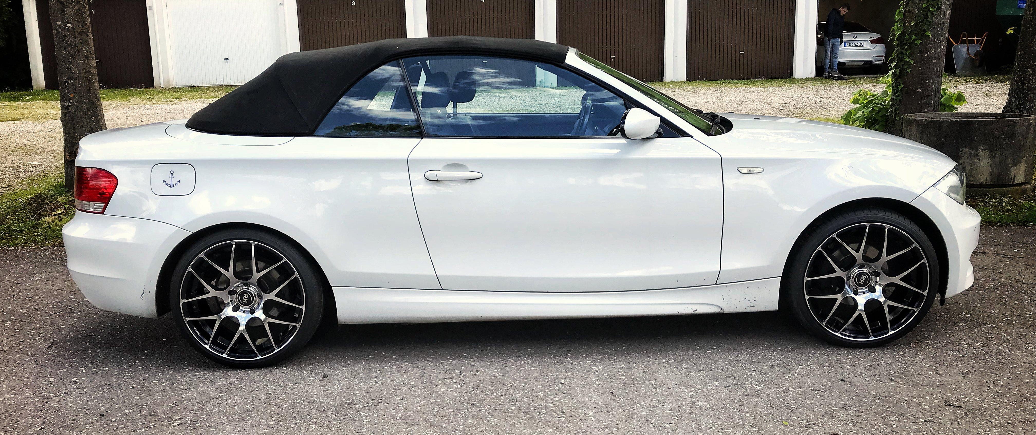 BMW – 1er – Weiß – RH – NBU Race  – Silber-Schwarz – 19 Zoll