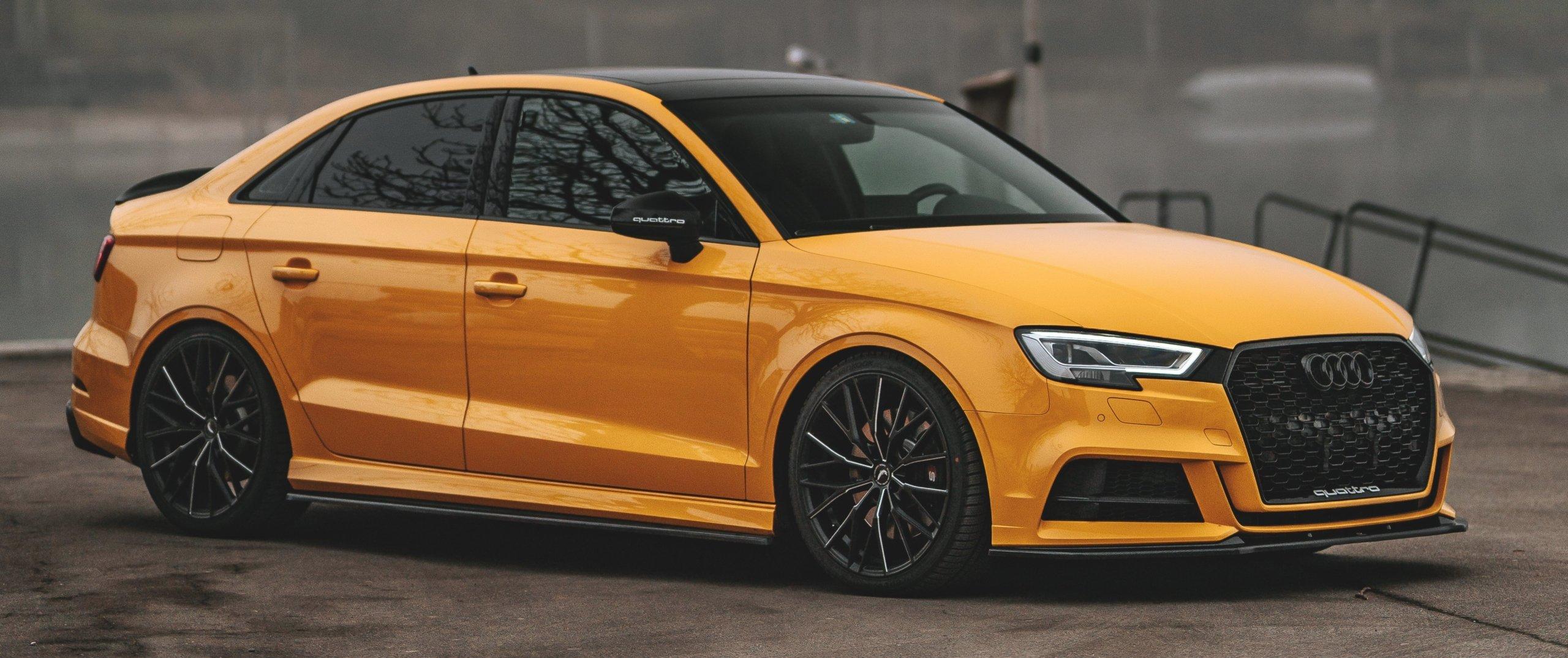 Audi – RS3 – Orange – BARRACUDA – Ultralight Project 3.0 – Schwarz – 19 Zoll
