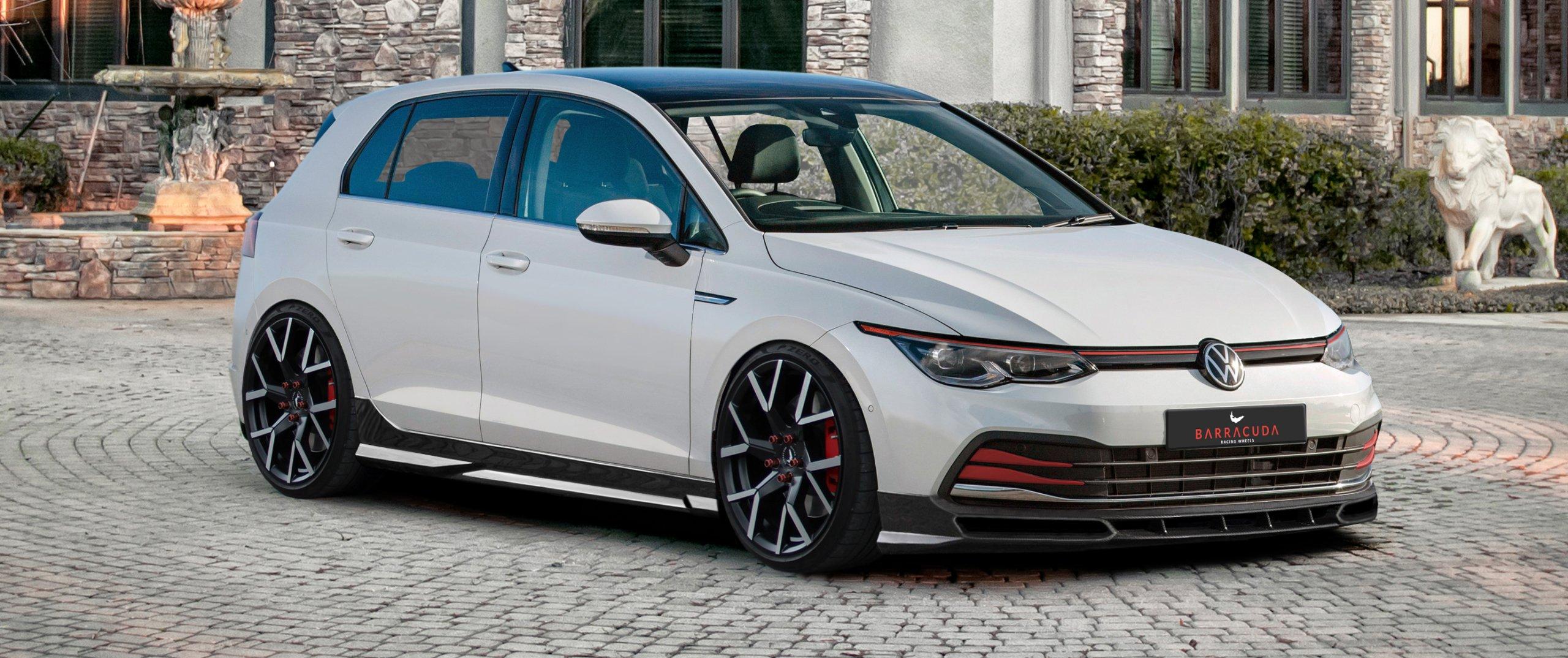VW – Golf 8 – Weiß – BARRACUDA – Tzunamee EVO – Gunmetall – 19 Zoll