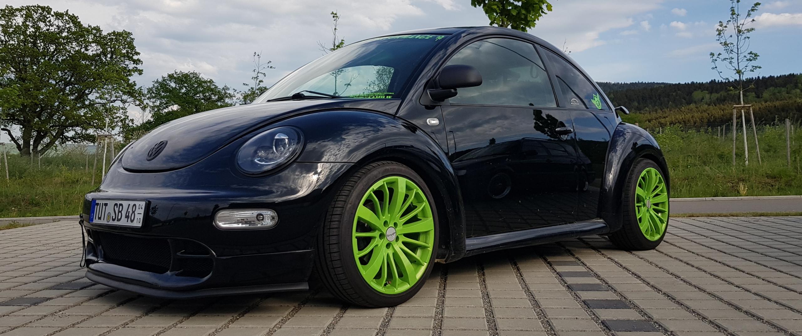 VW – Beetle – Schwarz – TOMASON – TN 6 – Grün – 18 Zoll