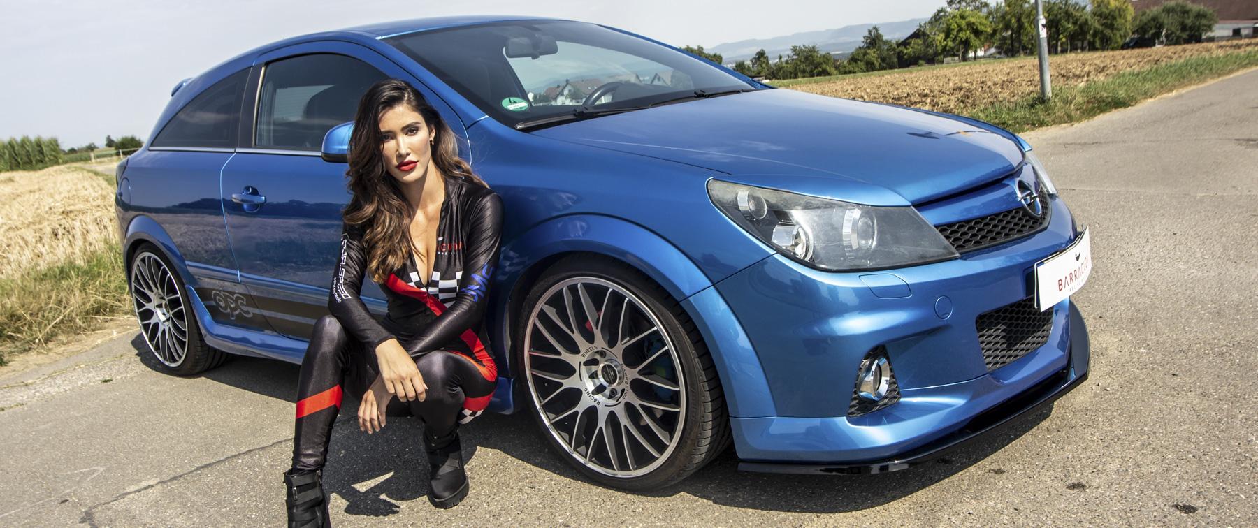 Opel – Astra – Blau – BARRACUDA – Karizzma – Silber – 19 Zoll