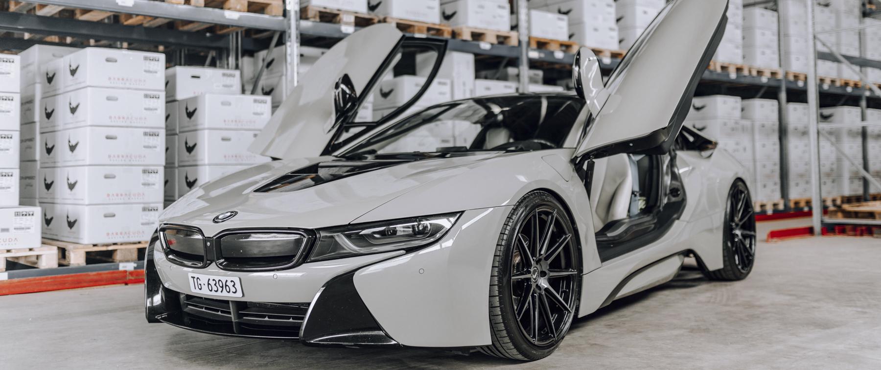 BMW – i8 – Grau – BARRACUDA – Ultralight Project 2.0 – Finish Black – 22 Zoll