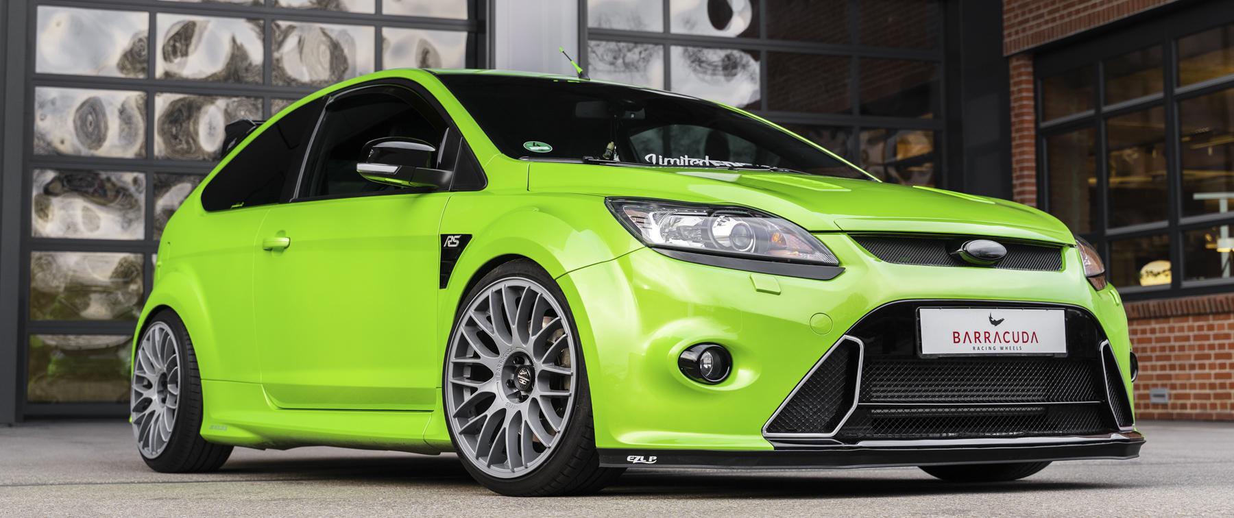 Ford – Focus RS – Grün – BARRACUDA – Karizzma – Grau – 19 Zoll