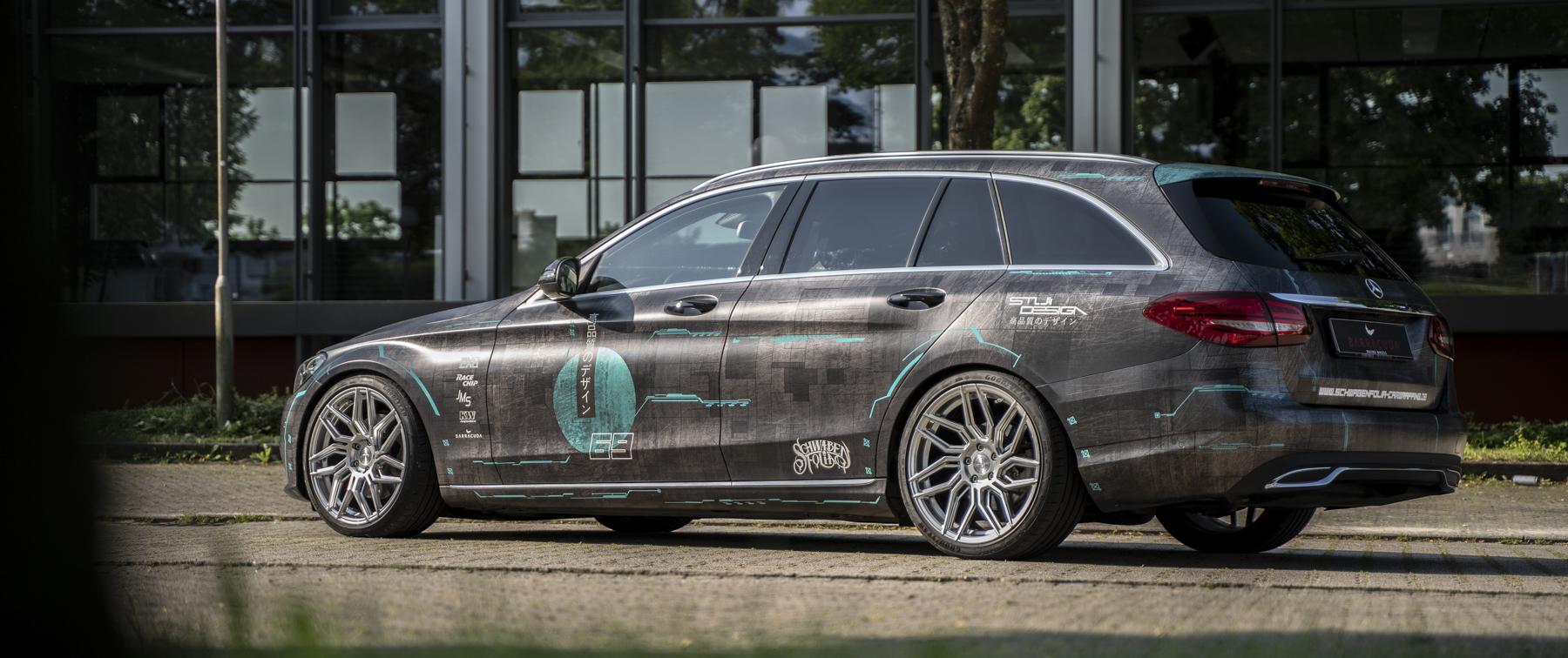 Mercedes-Benz – C-Klasse – Grau – BARRACUDA – Dragoon – Silber – 19 Zoll